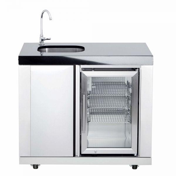 ALL'GRILL Modul 1 - Waschbecken & Kühlschrank Einbaumodul 850M01