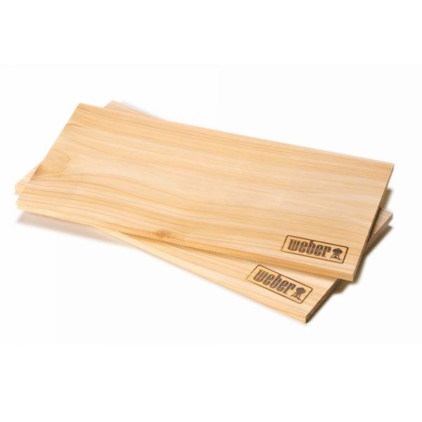 Weber Räucherbretter - Zederholz, groß (2 Stück) 50019