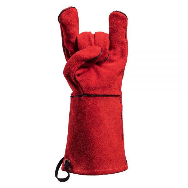 FEUERMEISTER Premium Grillhandschuhe Leder rot Gr.8 50173613B