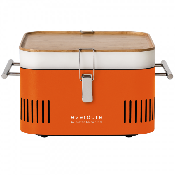 Everdure CUBE Holzkohlegrill Orange HBCUBEODE