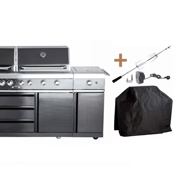 ALL'GRILL TOP-LINE EXTREM BLACK mit Air System 100970