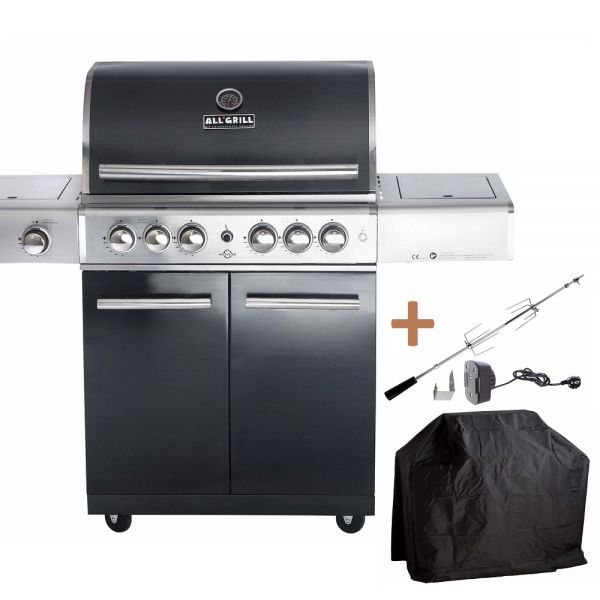 ALL'GRILL TOP-LINE CHEF L BLACK mit Air-System 100704