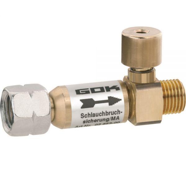 GOK Schlauchbruchsicherung SBS/MA 50mbar 1,5kg/h G1/4LH UEM x G1/4LH-KN 6285302