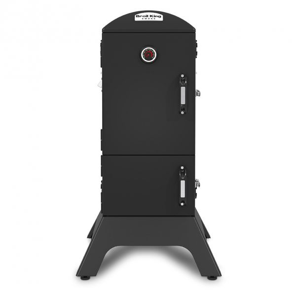 Frontansicht vom Broil King Vertical Charcoal Smoker 923610