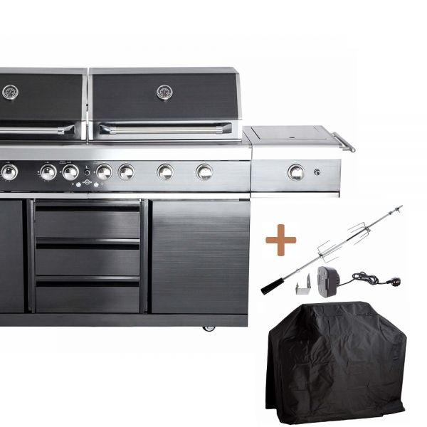 ALL'GRILL TOP-LINE EXTREM LIGHT BLACK mit Air System 100960