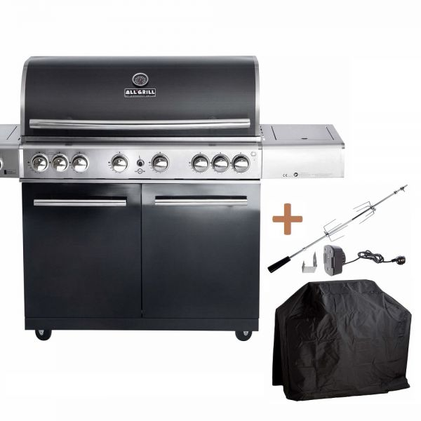 ALL'GRILL TOP-LINE CHEF XL BLACK mit Airsystem 100706